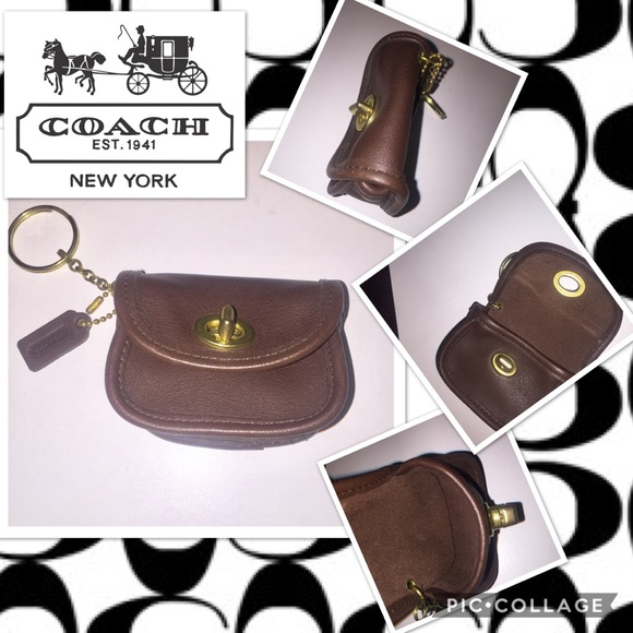 dfaff492f1 ... canada authentic coach key chain and change purse brown 0bdf1 3143d